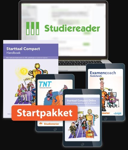 Studiereader Starttaal Compact 2F/3F 12M -Combipakketten met de methode in Studiereader Wynia, Rieke