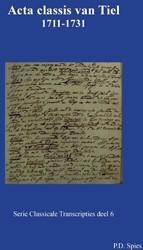 Acta classis van Tiel 1711-1731 Spies, P.D.