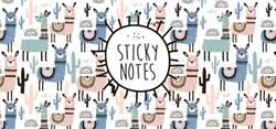 Sticky notes box Alpaca -11 verschillende designs