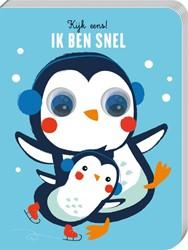 Kijk eens! Ik ben snel -Pinguin met bewegende ogen