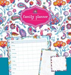 family planner flowers -sticky notes + memoblok