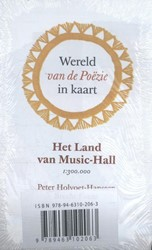 Wereld van de Po?zie in kaart (5 ex.) -het land van music-hall 1 : 30 0.000 Holvoet-Hanssen, Peter