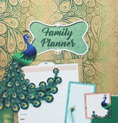 Family planner Pauw -weekkalender, sticky notes en notitieblok