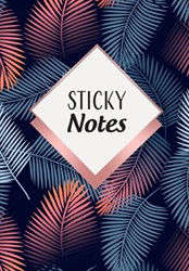 Sticky notes pack Leaves -8 verschillende designs + pen