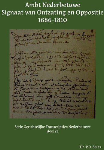Ambt Nederbetuwe Signaat van Ontzating e Spies, P.D.