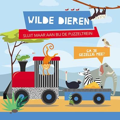 Wilde dieren -boek + puzzeltrein