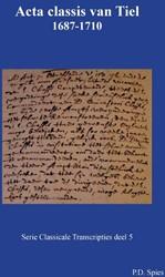 Acta classis van Tiel 1687-1710 Spies, P.D.