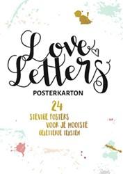 Loveletters handletteren posterkarton -24 stevige posters voor je moo iste geletterde teksten