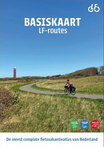 Basiskaart LF-routes -De meest complete fietsvakanti eatlas van Nederland