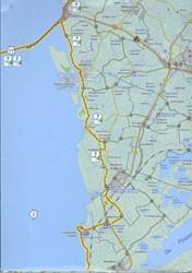 Zuiderzeeroute (kaarten-set) -fietsen langs historische dorp jes rondom het IJsselmeer