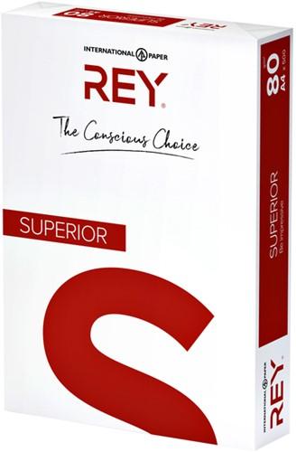 KOPIEERPAPIER REY SUPERIOR A4 80GR WIT -KOPIEERPAPIER WIT 88100366 Inkjetpapier brother a6 glans 190gr