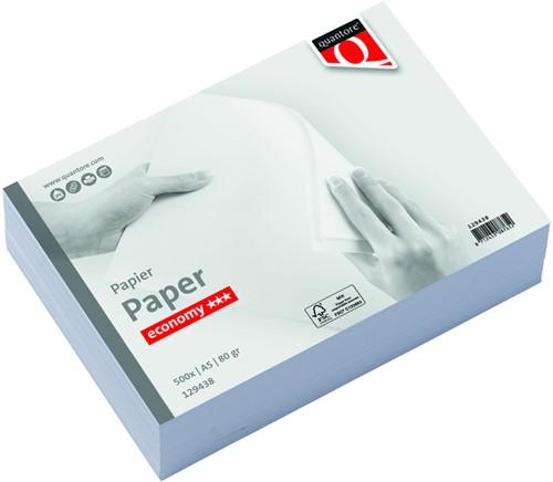 Kopieerpapier quantore economy a5 80gr -H29438 129438 Wit