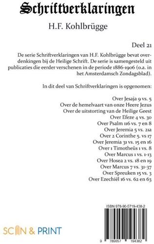 Schriftverklaringen 21 Kohlbrugge, H.F.-2