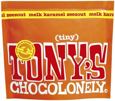 TONY'S CHOCOLONELY TINY MELK KARAME -PREMIUM NLRTPMKZ180 ZEEZOUT 180GR