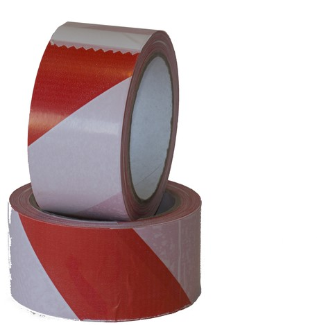 TAPE BUDGET SIGNALERINGS 50MMX66M ROOD -HUISMERK FACILITAIRE PRODUCTEN 15088 WIT