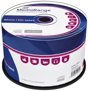 CD-R MEDIARANGE 700MB 80MIN 52X SPEED -CD'S MR207 CAKE 50