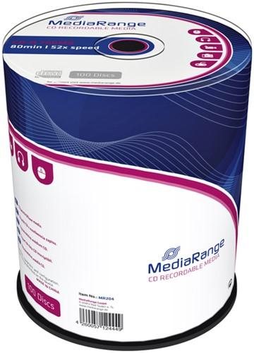 CD-R MEDIARANGE 700MB 80MIN 52X SPEED -CD'S MR204 CAKE 100