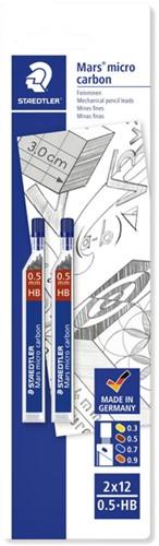 POTLOODSTIFT STAEDTLER MARS CARBON -POTLOODSTIFTEN 2505HBBK2D MICRO 0.5MM HB