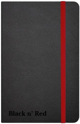 NOTITIEBOEK OXFORD BLACK N' RED 9X1 -NOTITIEBOEKJES BTC 400033672 LIJN