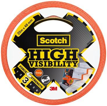 PLAKBAND SCOTCH HIGH VISIBILITY -PLAKBAND EN PLAKBANDHOUDERS 29044825O 48MMX25M ORANJE