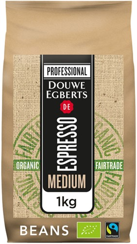 KOFFIE DE ESPRESSO MEDIUM ROAST ORGANIC -WARME DRANKEN 4056363 & FAIR TRADE 1000GR