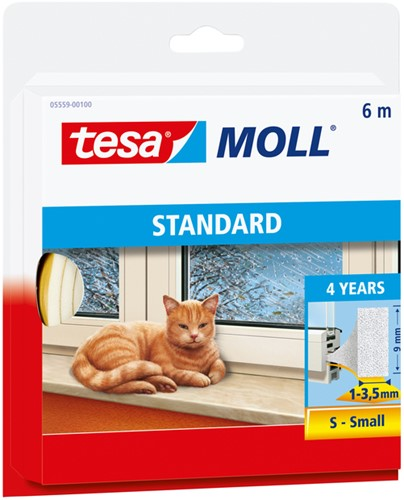 TOCHTSTRIP TESA MOLL 05559 I PROFIEL -OVERIG FACILITAIR 05559-00100-00 9MMX6M WIT