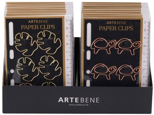 PAPERCLIP ARTEBENE METAAL BLAD OF -PAPERCLIPS 152005 SCHILDPAD