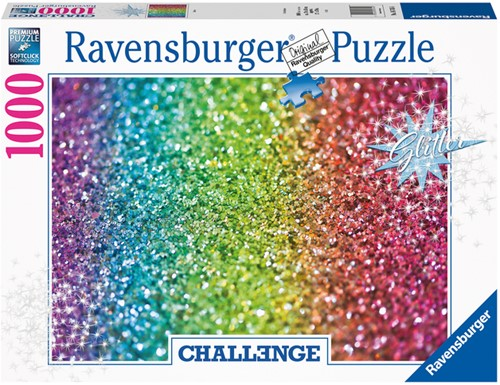 PUZZEL RAVENSBURGER GLITTER CHALLENGE -SPEELGOED EN PUZZELS 167456 1000 STUKJES