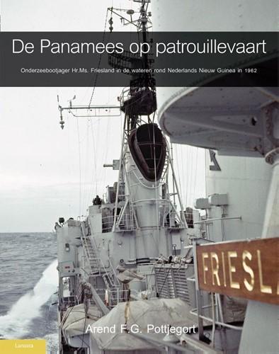 De Panamees op patrouille -onderzeebootjager Hr.Ms. Fries land in de wateren rond Nederl Pottjegort, Arend F.G.