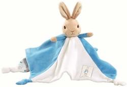Peter Rabbit knuffeldoekje/tutje blauw 3