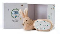 Peter Rabbit babyschoentjes met rammelaa