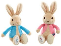 Peter Rabbit knuffel 19cm blauw/roze (12