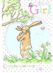 """Hazeltje dubbele kaart """"Its a girl&"""