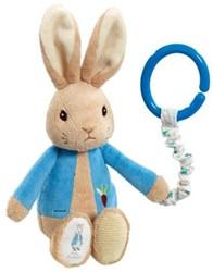 Peter Rabbit buggyspeeltje blauw 19cm (1