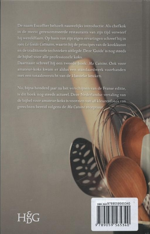 Ma cuisine escoffier voor iedereen escoffier auguste bij for Auguste escoffier ma cuisine book