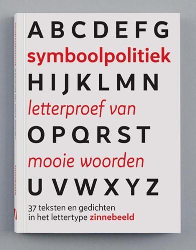 Symboolpolitiek letterproef van mooie wo -37 teksten en gedichten in het lettertype zinnebeeld