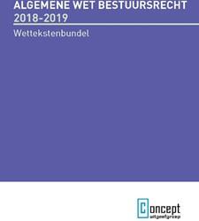Algemene wet bestuursrecht 2018-2019 -Wettekstenbundel voor het open baar bestuur