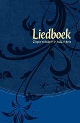 Liedboek - blauw kunstleer -zingen en bidden in huis en ke rk