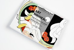 ART NOUVEAU - POSTCARD COLOURING BOOK -POSTCARD COLOURING BOOK