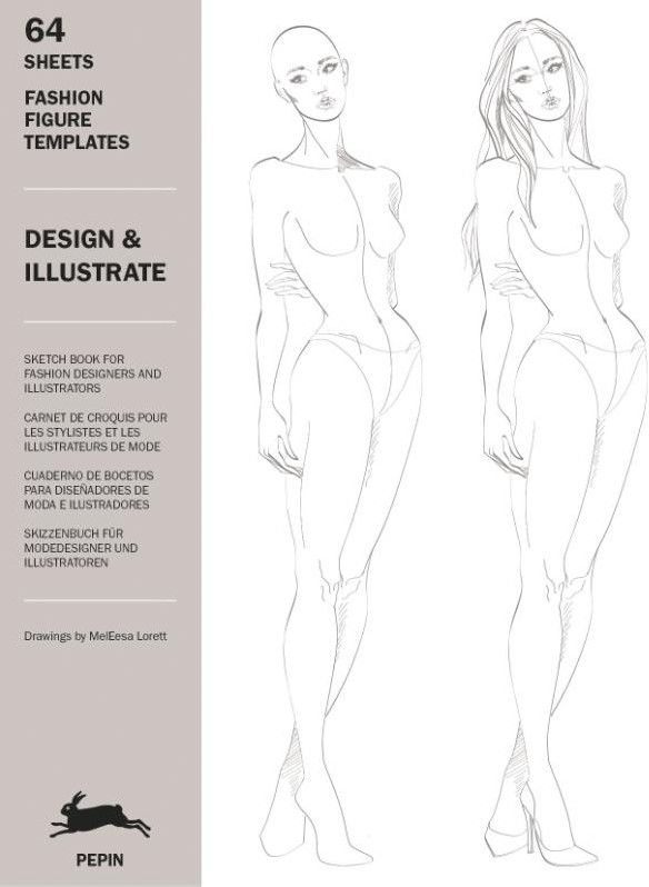 Design Illustrate Fashion Figure Templates Van Roojen Pepin Bij