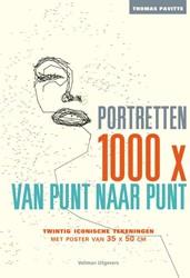 1000x van punt naar punt Portretten -twintig iconische portretten o m zelf in te tekenen Pavitte, Thomas