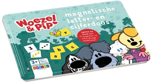 Woezel & Pip magnetische letter- en