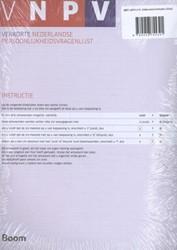 VNPV: Zelfscorende formulieren (25) -verkorte Nederlandse Persoonli jkheidsvragenlijst Barelds, Dick P.H.