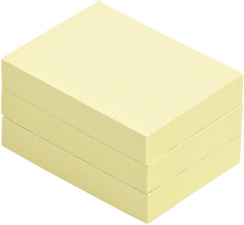 MEMOBLOK QUANTORE 40X50MM STICKY GEEL -HUISMERK BUREAUARTIKELEN 392606Q Memoblok quantore 50x40mm geel