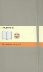 Moleskine Classic Colored Notebook, Larg -SOFT COVER BLACK