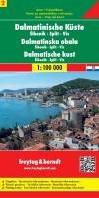 F&B Dalmatische kust 2, Sibenik, Spl -Toeristische wegenkaart 1:100 000