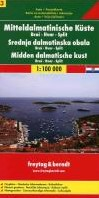 F&B Dalmatische kust 3, Brac, Hvar, -Toeristische wegenkaart 1:100 000