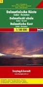 F&B Dalmatische kust 1, Kornaten, Za -Toeristische wegenkaart 1:100 000