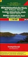 F&B Dalmatische kust 4, Mljet, Medju -Toeristische wegenkaart 1:100 000