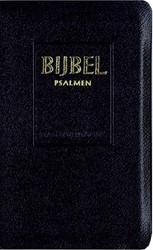 Bijbel Statenvertaling met Psalmen, 12 g -micro-editie, kunstleren zwart e band, goudtitel en kleursned